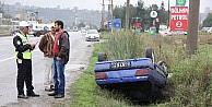 Kazada Sürücüyü Emniyet Kemeri Kurtardı