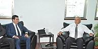 Kıbrıs Türk Belediyeler Birliği Başkanı Benli, Kepez Belediye Başkanı Tütüncü'yü Kabul Etti