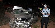 Köpeğe Çarpamamak İsterken, Yoldan Çıkan Otomobil Takla Attı