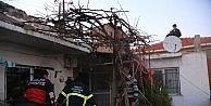Milas'ta Ev Yangını Korkuttu