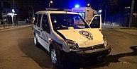 Olaya Giden Polis Otosu Kaza Yaptı