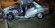 Otomobil Kamyonete Çarpti: 1 Ölü, 4 Yaralı