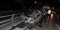 Otomobil Köprü Üstünde Takla Attı: 2 Yaralı