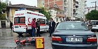 Otomobil Motosiklet İle Çarpişti: 1 Yaralı