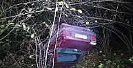 Otomobil Ormanlık Alana Uçtu: 3 Yaralı