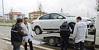 Patlayıcı Yüklü Otomobil Kurşunlandıktan Sonra Arızalandı