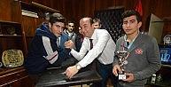 Şampiyonlar, Başkan Alemdar Öztürk'ü Ziyaret Etti
