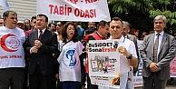 Samsundaki Doktor Cinayeti, Dr. Ersin Arslanın Öldürüldüğü Hastanede Protesto Edildi
