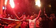 Şanlıurfada Galatasaraylı Taraftarların Şampiyonluk Coşkusu