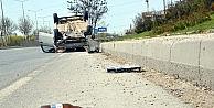Şoför Takla Atan Otomobili Bırakıp Kaçtı