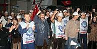 Tekstil İşçileri Yağmur Altında Eylem Yaptı