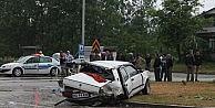 Termede Kaza: 1 Ölü, 4 Yaralı