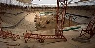 Timsah Arenada Kuleler Sökülüyor