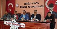 TOBB Başkanı Rifat Hisarcıklıoğlu Ereğlide