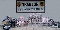Trabzon'da Jandarmadan Kaçak Sigara Ve İçki Operasyonu