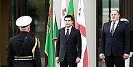 Türkmenistan Cumhurbaşkanı Berdimuhammedov Gürcistanda