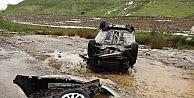 Yozgatta Dolu Yağışı Trafik Kazasına Sebep Oldu: 3 Yaralı