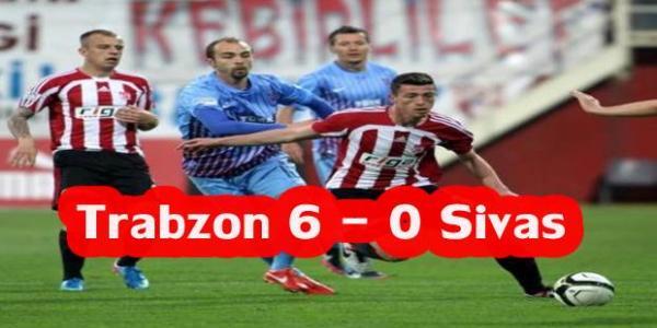 Trabzonspor 6-0 Sivasspor Maçı Golleri İzle